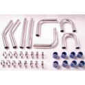 """Intercooler piping kit universal 2.5' or 3.0"""", t-bolt clamps, silicone connectors"""